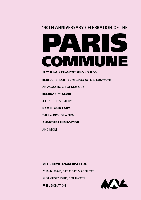 poster for the Paris Commune event